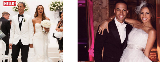 Rochelle Humes wears bespoke Flo & Percy for her wedding